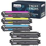 OfficeWorld Kompatibel Toner TN241 TN245 Ersatz für MFC-9332CDW 9142CDN 9342CDW 9140CDN, DCP-9022CDW 9020CDW, HL-3152CDW 3150CDW 3140CW 3172CDW 3142CW