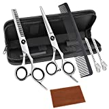 Bamoer Haarschere Set,Friseurscheren,Haarschere,Haarschneideschere,Licht Friseurscheren mit Einseitiger Mikroverzahnung,Perfekter Profi Effilierschere für Damen,Herren und Kinder.