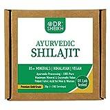 DrSheikh Reiner Himalayajit Ayurvedische Shudh-Reinigung, gleicht alle 3 Doshas aus, vegan, Spurenmineralien und natürliche Fulvinsäure, 20 g - 100 Portionen