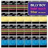 Billy Boy Kondome 50er Beutel Mix-Sortiment aus farbigen, perlgenoppten, farbig-aromatisierten und extra feuchten Kondomen