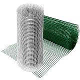 casa pura® Drahtgitter verzinkt | Testnote 1,4 | 4-Eck-Geflecht Drahtzaun | Länge und Höhe wählbar (50x500 cm)