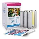 Ersatz Canon Selphy CP CP1300 CP1200 CP910 CP800 Fotopapier, Fotoset KP-108IN kompatibel für Canon Selphy Fotodrucker, 108 Blatt Foto Papier (100 x 148 mm) mit 3 Farbkartusche