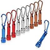 com-four® 10x LED-Mini-Taschenlampe, mit Karabinerhaken als Schlüsselanhänger, ideal für Schule, Sport, Freizeit, Camping, Outdoor (10 Stück - LED-Anhänger)