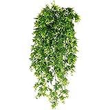 XHXSTORE 3 Pcs Künstliche Hängepflanzen Süßkartoffel Blätter Kunstpflanze Hängend Künstliche Efeu Plastik Pflanzen für Drinnen Draußen Balkon Topf Hochzeit Garten Wand Dekoration