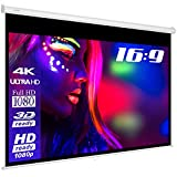 ESMART Economy EXR Rollo-Leinwand [Größenauswahl] 200 x 113 cm (90')   Format 16:9   Heimkino Beamer Projektionsleinwand Rollo Leinwand LCD LED