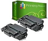 Printing Pleasure 2er Set Premium Toner Schwarz kompatibel für HP Laserjet 2400, 2410, 2410N, 2420, 2420D, 2420DN, 2420DTN, 2420N, 2430, 2430DTN, 2430N, 2430T, 2430TN, Canon LBP-3410, LBP-3460
