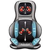 Comfier Shiatsu Rücken und Nacken Massagesitzauflage mit Wärme - 2D / 3D-Knet Massageauflage mit voller Rückenlehne und einstellbarer Luftkompresse, Ganzkörper Massagematte für Damen, Herren