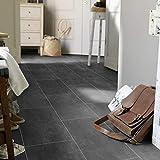 PVC Bodenbelag Fliese Anthracite Melbourne Noir (9,90 € p .m²) (Muster DIN A4)