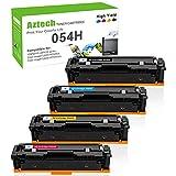 Aztech Kompatibel Tonerkartusche als Ersatz für Canon 054 054H Class MF640C MF642Cdw MF641Cw MF643Cdw MF644Cdw MF645Cx LBP621Cdw LBP622Cdw LBP623Cdw (Schwarz,Cyan,Gelb,Magenta, 4er-Pack)