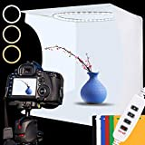 Foto Lichtbox 30x30x30cm Tragbare Faltbare Fotostudio Lichtzelt mit Dimmbare 88 LED Beleuchtung, 6...