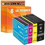 Gorilla-Ink 8X Tinten-Patrone XXL kompatibel mit Canon PGI-2500 Maxify IB 4000 Series 4050 IB 4150 MB 5000 Series 5050 5300 Series 5350