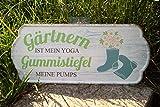 G.Handwerk Metall Schild 35x15cm - Gärtnern ist Mein Yoga, Gummistiefel Meine Pumps