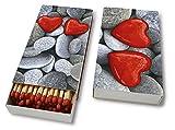 Kaminhölzer Love stones – Steine der Liebe / Hochzeit / Valentinstag - 45 Streichhölzer