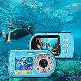 Digitalkamera, Fotoapparat Unterwasserkamera 1080P FHD 16-facher Digitalzoom Unterwassersportkamera...