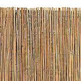 ESTEXO Bambusmatte - Sichtschutzzaun, Gartenzaun, Natur, Bambus, Zaun, Sichtschutz, Windschutz (1,20m x 4,00m)