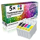 N.T.T.® 5 Stück XL Druckerpatronen, Sparset für Epson T0711 T0712 T0713 T0714