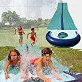 TEAM MAGNUS Wasserrutsche - Slip und Slide aus strapazierfähigem 0.22mm PVC (9.5m Wasserrutsche)