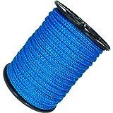 Handelsminister.com 50m Kunststoffseil 12mm 1200kg grün beige blau schwimmfähig Polyprolylen PP-Seil Seil Tau salzwasserbeständig, Farbe:blau