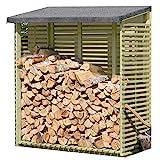 Gartenpirat Kaminholzregal mit Rückwand für 1,8 m³ Holz