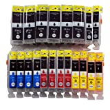 20 Tintenpatronen Druckerpatronen Tinte für Canon Pixma IP4200 IP4300 IX4000 IP5300 ersetzen PGI5 und CLI-8