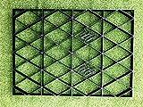Unterbau-Gitter für Gartenhäuser, komplettes ökologisches Set, 3,66m x 2,55m, robuste Membran, Kunststoff, für Unterbau & Auffahrt-Gitter