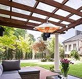 DMS Deckenheizstrahler | 1500 Watt | Heizpilz | Infrarotdeckenstrahler | Terrassenstrahler | Wärmestrahler | Innen- und Außenbereich | Fernbedienung | Heizkörper | 3 Heizstufen