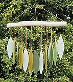 MyFamilyHouse Windspiel/Windspiel, aus Glas, färbendes Design, handgefertigt, Grün