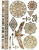 KLIMBIM Bling your Body mit Flash Metallic Tattoos Gold Schmuck Tattoo für Körper Finger Arme viele Designs (No.29)
