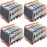 Generisches Kompatible Tintenpatrone als Ersatz für CANON PGI-5BK CLI-8BK CLI-8C CLI-8M CLI-8Y ( 4x Schwarz, 4x Schwarz, 4x Cyan, 4x Magenta, 4x Gelb, 20er-Pack)