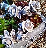 2 x Rosenbouquet Rosenranke Rose Rosen Ranke Rosenblüten mit Blätter auch Grabdekoration Grabschmuck wetterfest