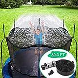 CT Trampolin Sprinkler Trampolin Spray Wasserpark Spaß Sommer Outdoor Wasserspiel Trampolin Zubehör, zum Anbringen am Trampolin Sicherheitsnetz Gehäuse (12m)