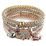 Bracelet Eléphant Armband Elefant – DREI Armbänder mit DREI Elefanten – Glücksbringer