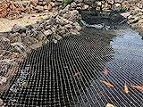 AquaOne Teichabdecknetz 3x4,2m Teichnetz Teichschutz Fischreiher Laubschutz Abdecknetz Teich Teichabdeckung Laubnetz Vogelnetz Fangnetz Vogelschutz