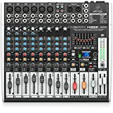 Behringer XENYX X1222USB 16-Kanal 2/2 Bus Mischpult mit XENYX Mic Preamps, 1-knob Kompressoren, 24-bit Multi-FX und USB Audio Interface