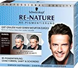 Schwarzkopf Re-Nature Re-Pigmentierung für Männer, Dunkel, 3er Pack (3 x 100 g)