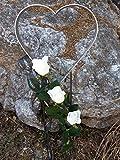 Herzstecker Grab, Grabschmuck wetterfest, Deko Beerdigung, Grabschmuck, Grab deko, Friedhof Deko Herz, Grabstecker wetterfest