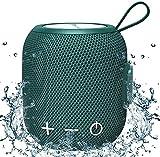 Bluetooth Drahtloser Lautsprecher Tragbarer Wasserdicht, Musik Box mit Stereo Bass 360 HD Surround...