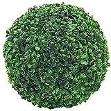 Decovego Buchsbaum Kugel Plastikpflanze Künstliche Pflanze Buxus Deko Ø28cm Innen und Aussen