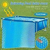 Solarplane, Solarabdeckung, Solarfolie, schnellere Wassererwärmung & geringere Wasserverdunstung, rechteckig, blau - 300cm x 200cm