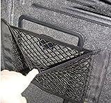 HENGSONG 1pc Universal Schwarz Auto Seiten Rückseiten Stamm Lagerung Net Taschen Beutel Double Layer Beutel mit Klebe 40 * 25.5cm
