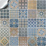 Tile Style Decals 24 stück Fliesenaufkleber für Küche und Bad TP60-6 | Verschiedene Mosaik wandfliesen Aufkleber für 15x15cm Fliesen