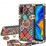 Vunake Huawei P30 Lite Hülle, Glitzer Case Cover mit Band und Ring Stand Handyhülle Magnetische...