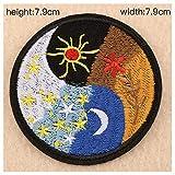 Tongjun Stickerei Kapitel runden Abzeichen Kappe Abzeichen Stickerei Tuch Patch Kleidung Ornamente (Size : 9)