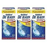 Kukident Die Blauen - Intensivreiniger für dritte Zähne, 3er Pack (3x104 Stuck)