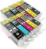 10 YouPrint Druckerpatronen kompatibel zu CLI-551 PGI-551 mit Chip: je 2x PGI-550PGBK XL, CLI-551BK XL, CLI-551C XL, CLI-551M XL, CLI-551Y XL für Canon Pixma IP7250 MG5550 MG5650 MG5655 MG7550 u.a.