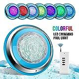 TOPLANET Poolbeleuchtung LED 48W RGB Unterwasser Beleuchtung LED Wasserdicht IP68 Pool Led Beleuchtung für Teichbeleuchtung, Pool Dekoration