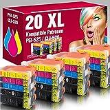 ms-point 20 kompatible Druckerpatronen PGI-525, CLI-526BK, CLI-526C, CLI-526M, CLI-526Y mit CHIP und Füllstandsanzeige für Canon