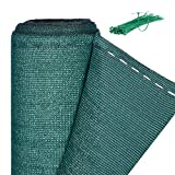 Relaxdays Zaunblende, Sichtschutz für Zaun & Balkongeländer, HDPE Gewebe, UV-stabilisiert, wetterfest, 1,5 x 6 m, grün
