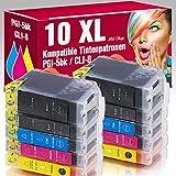 ms-Point® 10 kompatible Patronen PGI-5BK CLI-8BK CLI-8C CLI-8M CLI-8Y mit Chip für Canon Pixma
