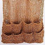 Aquagart 1 Kokos Pflanztasche Kokosmatte I Teich Ufermatte Böschungstasche I Böschungsmatte Teich Pflanzmatte 100x100 cm mit 8 Teichtaschen I 700g Naturfaser Kokosgewebe I Teichbepflanzung Zubehör
